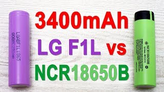 LG F1L vs Panasonic NCR18650B capacity test