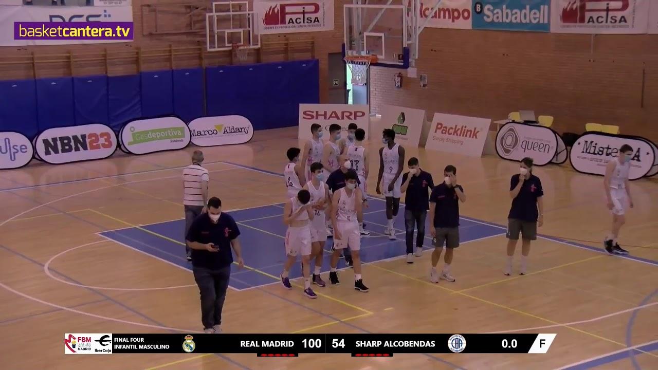 F4Infantil Masc.  REAL MADRID vs CB ALCOBENDAS. Semifinal Liga U14M FBMadrid 2021 #BasketCantera.TV