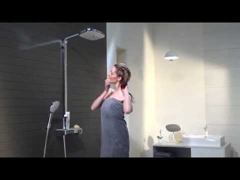 Душевая система Hansgrohe Raindance Select Showerpipe E300 2 jet (27127000) (полка хром) 7
