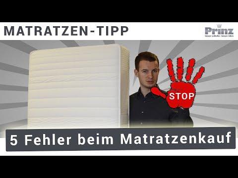 Matratze kaufen - 5 Fehler, die Sie NICHT machen dürfen!⛔