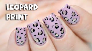 NAIL ART FOR BEGINNERS - Simple Leopard Print