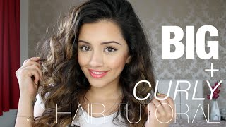 Tutorial | BIG CURLY HAIR TUTORIAL | Kaushal Beauty