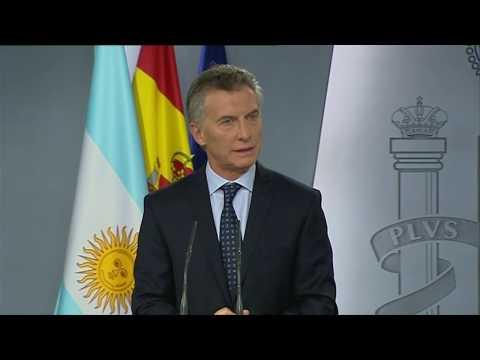 Declaración conjunta de los presidentes Mauricio Macri y Mariano Rajoy Brey