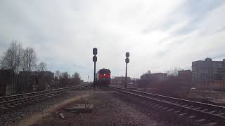 Тепловоз 2ТЭ10М-0781 прибывает в Архангельск.