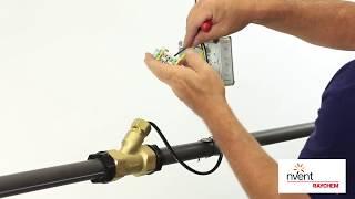 Монтаж внутрь трубы саморегулирующийся греющий кабель Raychem ETL