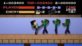 NES Kung FU 8-bit Minecraft Animation Remake (No Damage) NikNikamTV