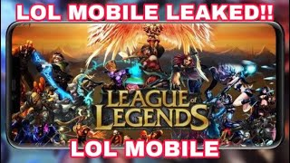 league of legends mobile leak - TH-Clip