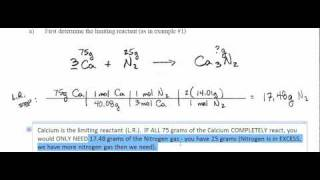 Avon AP Chemistry Limiting Reactant Day14 Examples 2