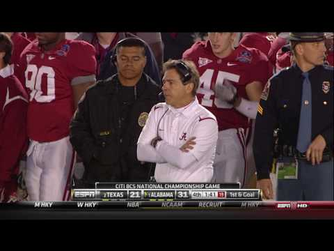 Alabama - Texas 2009 - Saban Gatorade Bath