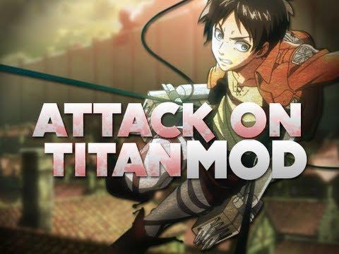 Attack on Titan in MINECRAFT!? - 3D Maneuver Gear Mod!