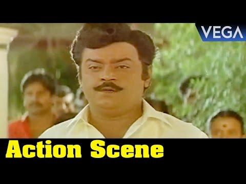 Enga Muthalali Tamil Movie || Vijayakanth Funny Action Scene