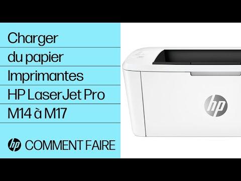 Charger du papier dans les imprimantes HP LaserJet Pro M14 à M17