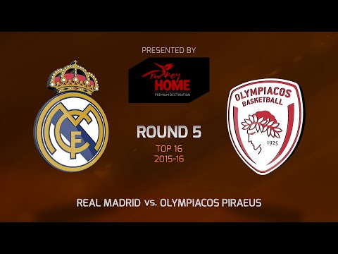 Highlights: Top 16, Round 5, Real Madrid 84-72 Olympiacos Piraeus