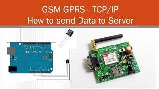 GSM TCP/IP - How to send Data to Server using SIM900A