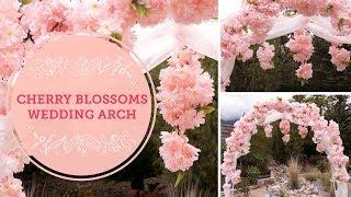 Decorative metal wedding arch tutorial by efavormart most spring cherry blossoms diy wedding arch balsacircle junglespirit Gallery