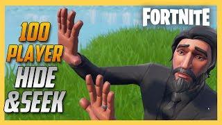 100 Player Hide and Seek in Fortnite! | Swiftor