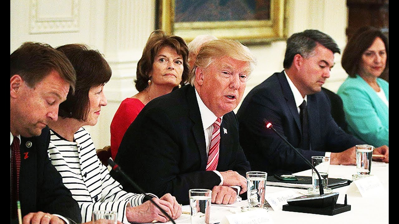 Meeting Gets Awkward When Trump Knows NOTHING About Trumpcare thumbnail