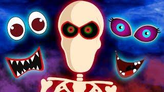 Let's Find the Parts of a Skeleton's Face  | Missing Skeleton Face | Hoopla Halloween