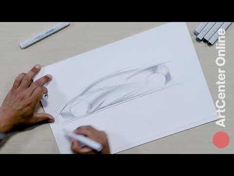 Professional Car Design: Sketching a Super Car (1 of 2)