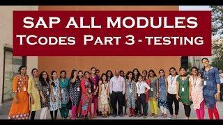 SAP All Modules T Codes Part 3 , Testing
