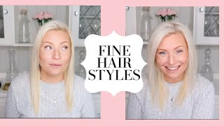 THIN HAIR HACKS | QUICK EASY HAIRSTYLE FOR THIN AND FINE HAIR | MESSY BUN STYLE HAIR TUTORIAL