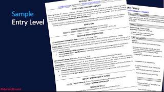 How to Write A Recent College Graduate Resume