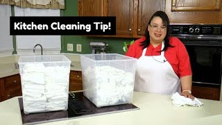 Kitchen Cleaning & Organization Tips ~ Kitchen Towels ~ Saturday Morning Cooking Tips!