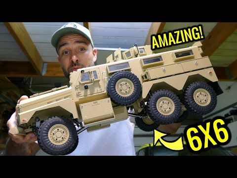 U.S MILITARY COUGAR 6X6 MRAP RC CAR - HG P602 1/12 - YOU NEED TO SEE THIS!