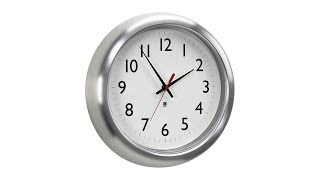 "Station Aluminum 14"" Round Wall Clock"