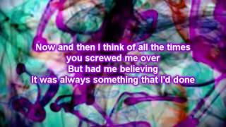 Christina Grimmie ft Adam Levine - Somebody That I Used To Know (Lyrics)