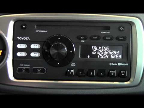 2012 Toyota Yaris Answer Call Via Bluetooth How To By Toyota City