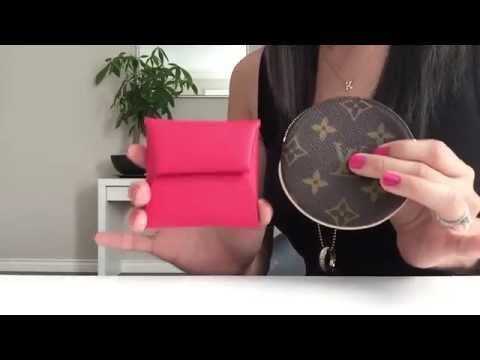 HERMES vs. LOUIS VUITTON | COMPARISON | MONNAIE BASTIA vs. ROUND COIN PURSE | GINALVOE