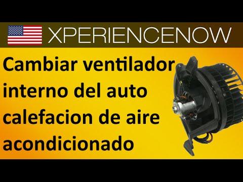 Como cambiar el ventilador interno del auto calefacion aire acondicionado