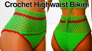 How To Crochet High Waisted Mesh Bikini Bottoms