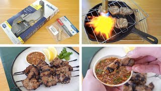 Best Indoor Grill Ever? BernzOmatic TS8000 + SansaireBZ4500HS Torch Tip. Thai Moo Yang Grilled Pork