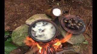 Primitive Survival Skills: Primitive Technology Looking For Food (Pila conica) | Kholo.pk