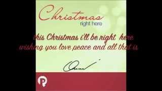 Christmas right here lyrics video