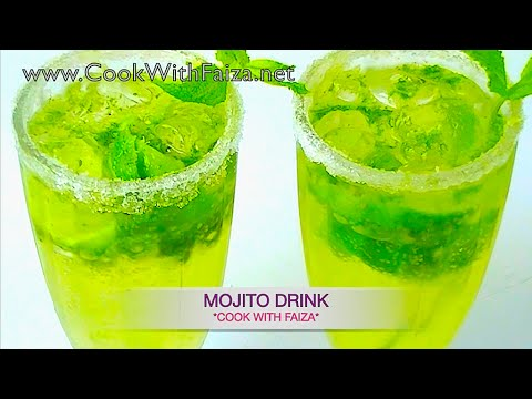 Video MOJITO DRINK - موہیتو ڈرنک -  महहितह डरीनक  *COOK WITH FAIZA*
