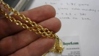 24K Gold Chain - 10 Don Korean Gold Jewelry