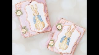 How To Create Inspired Vintage Dimensional Peter Rabbit Cookie Cards