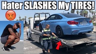 Hater SLASHES my tires on my new 2018 BMW M4!