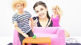 Барби и Кен делают уборку. Видео для девочек.
