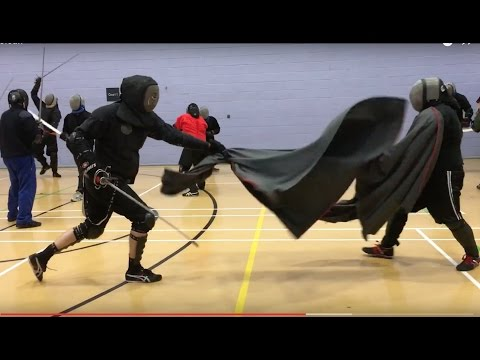 Rapier and Cloak sparring - Tom vs Nick
