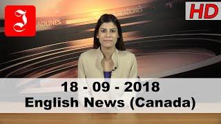 News English Canada 18th Sep 2018