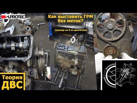 Фото к видео: Теория ДВС - Как выставить ГРМ без меток? (пример на 8 кл двигателе)