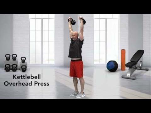 Standing Kettlebell Overhead Press
