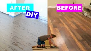 DIY PROJECT: TRIP TO HOME DEPOT: Chalk Painting Floors