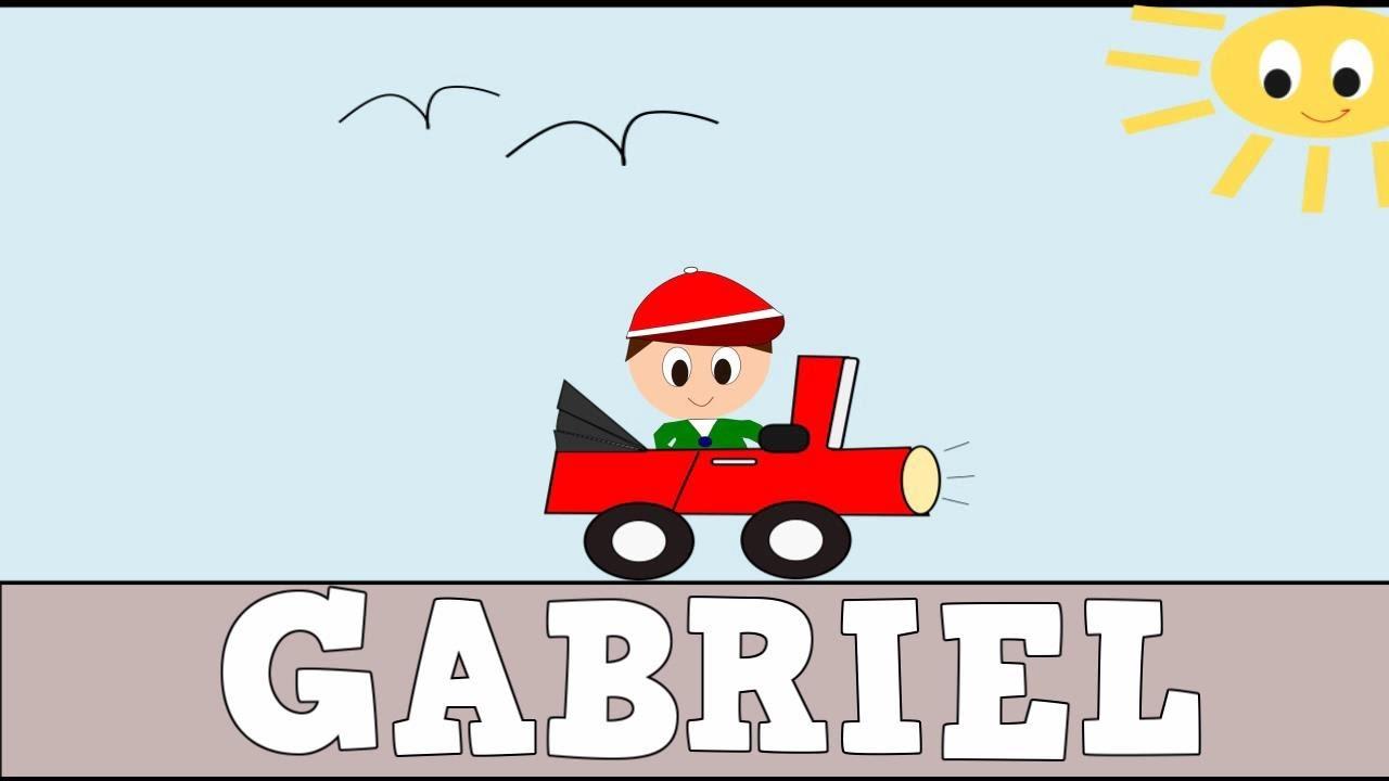 Aprender a leer y escribir GABRIEL - Vídeos educativos para Niñosy Bebés - Paty y Poty