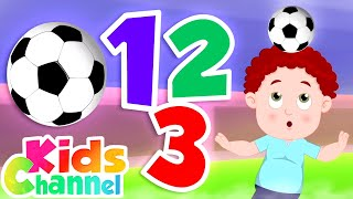 Football Number Song | Learning Videos for Children |  Schoolies Cartoon Video - Kids Channel