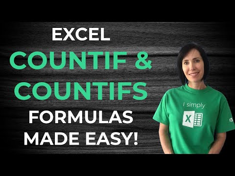 Excel COUNTIF & COUNTIFS Video Tutorial
